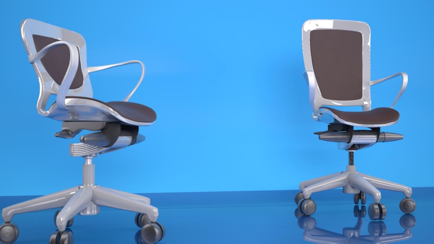3d studio scene office chairs