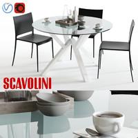 3d scavolini shangay mya dining set model