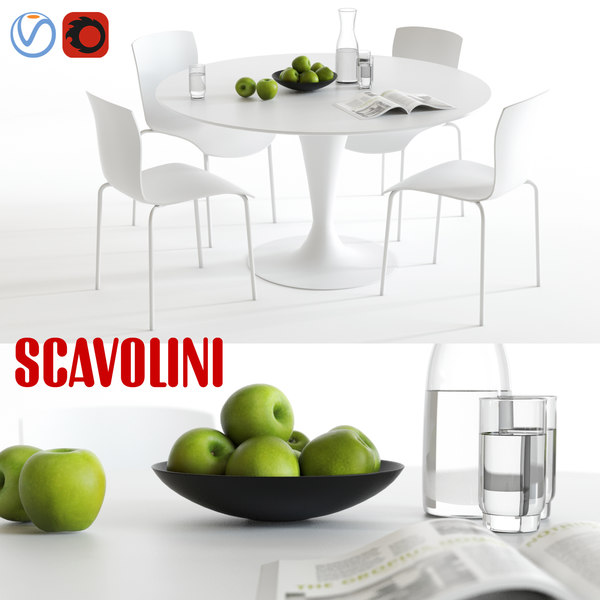scavolini nomo chatty dining set 3d max