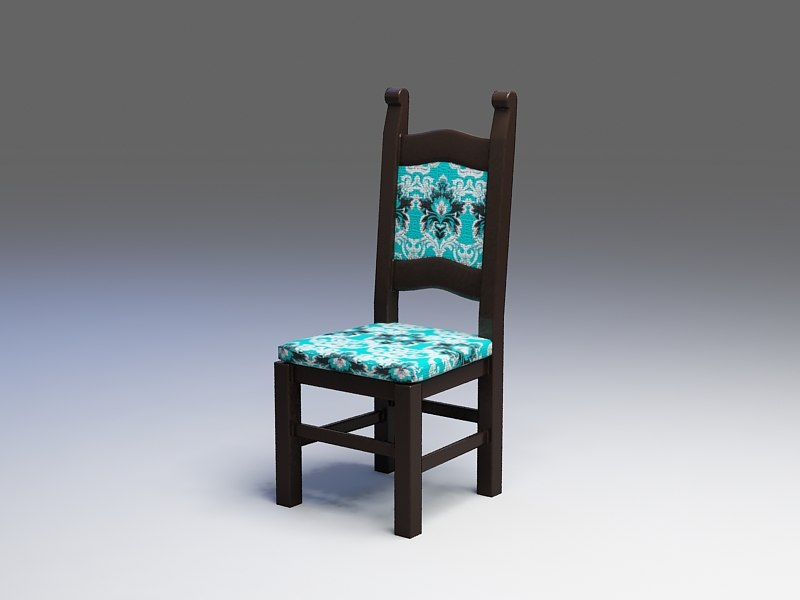 3d model turquoise chair design