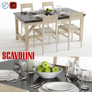scavolini social floating happening 3d model