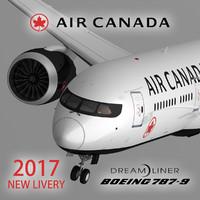 3d model air canada 787-9