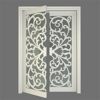 stained glass door 3d model