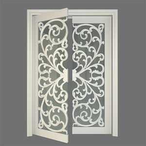 stained glass door 3d model