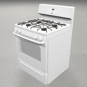 3d model stove gas range