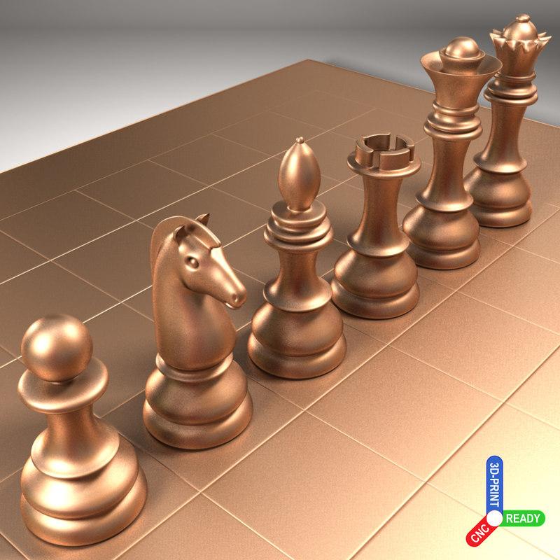chess cnc 3d 3ds
