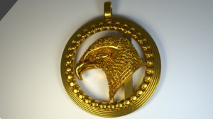 3d pendent eagle strength