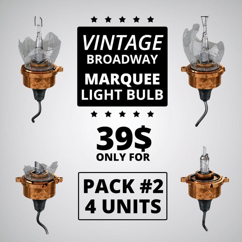 light bulb pack 3d max