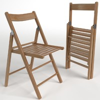 3d wooden folding chairs