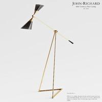 max john richard mid-century floor lamp
