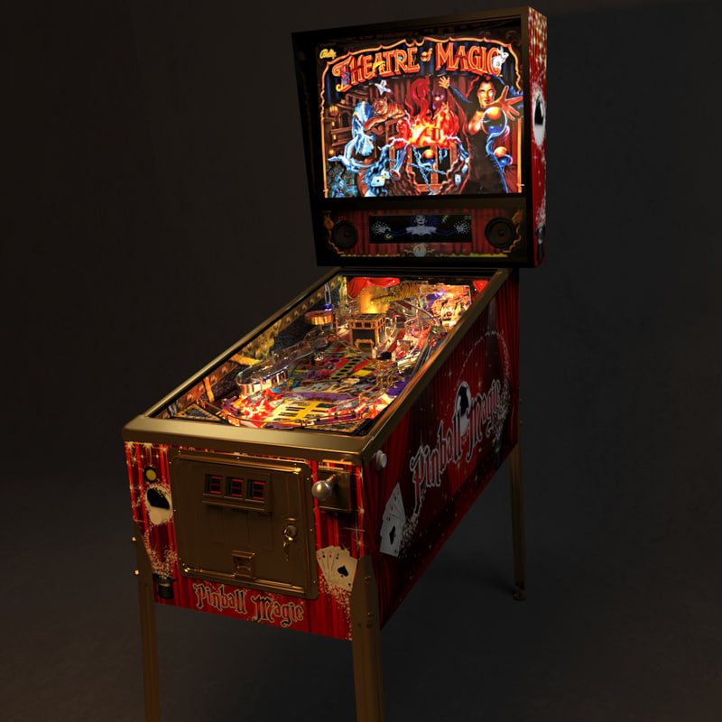 3d pinball machine model