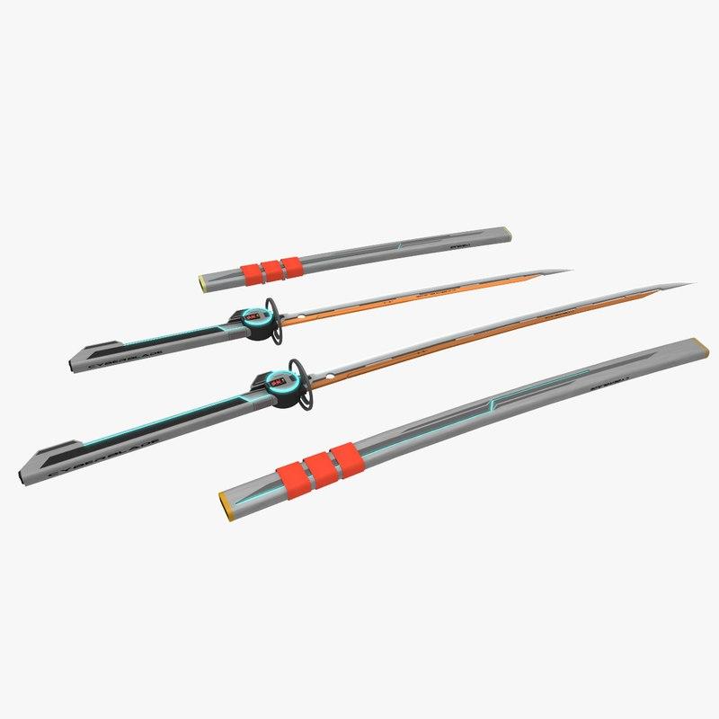katana wakizashi blade 3ds