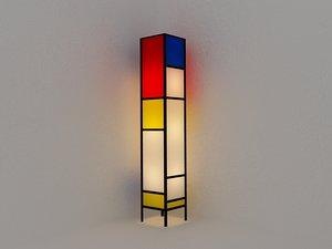 3d mondrian floor lamp