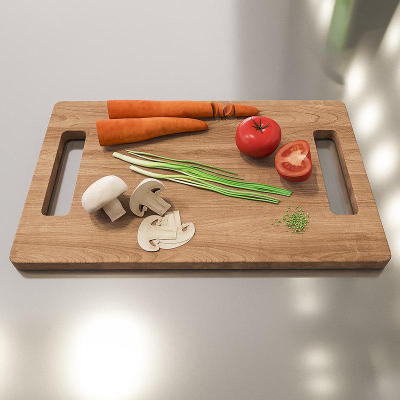 vegetables food 3d model