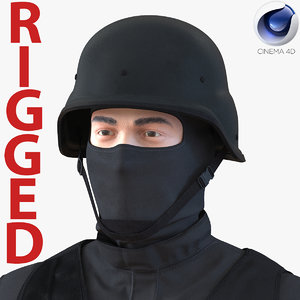 3d swat man mediterranean rigged