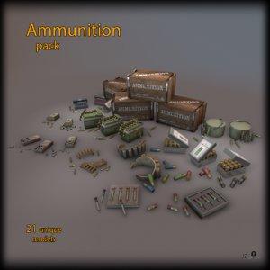 3d fbx pack ammo