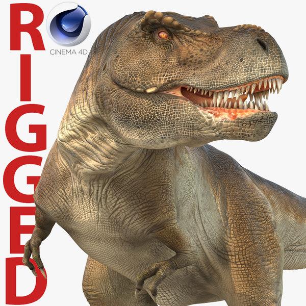 tyrannosaurus rex rigged 3d model
