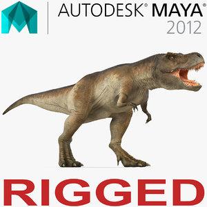 ma tyrannosaurus rex rigged