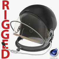 advanced crew escape helmet 3d c4d