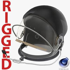 advanced crew escape helmet 3d c4d