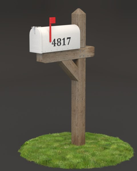 3d fbx mail box