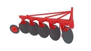 agricultural plough profile frame 3d model