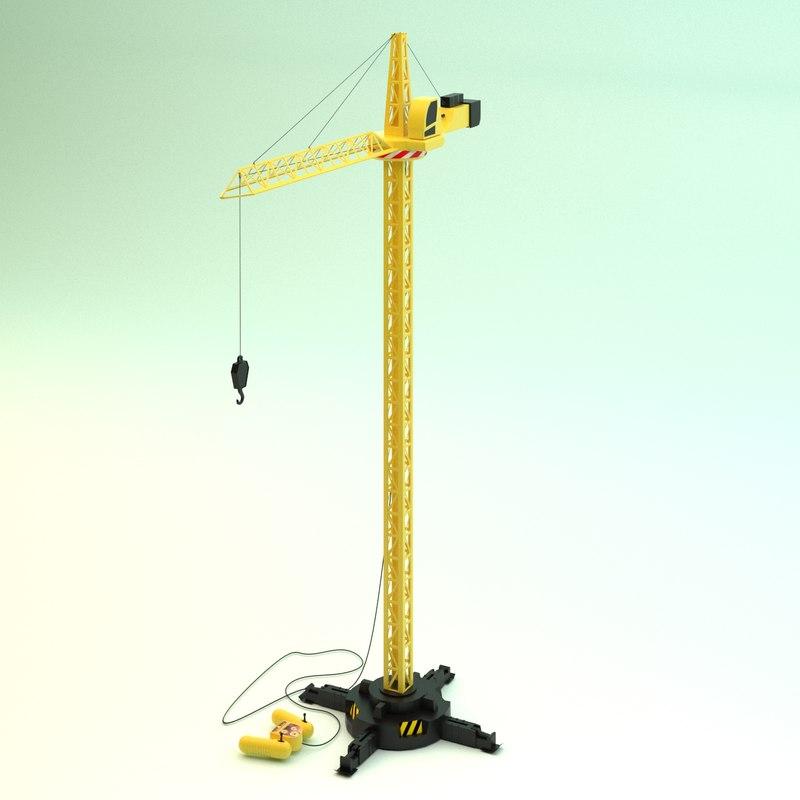 3d model tower crane