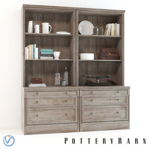 3d pottery barn livingston wall