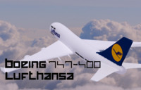3d model commercial aircraft lufthansa