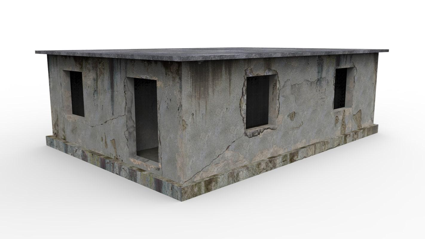 3d model concrete buildings