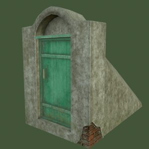 3d model of cellar door