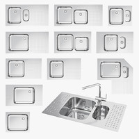 3d model barazza sinks