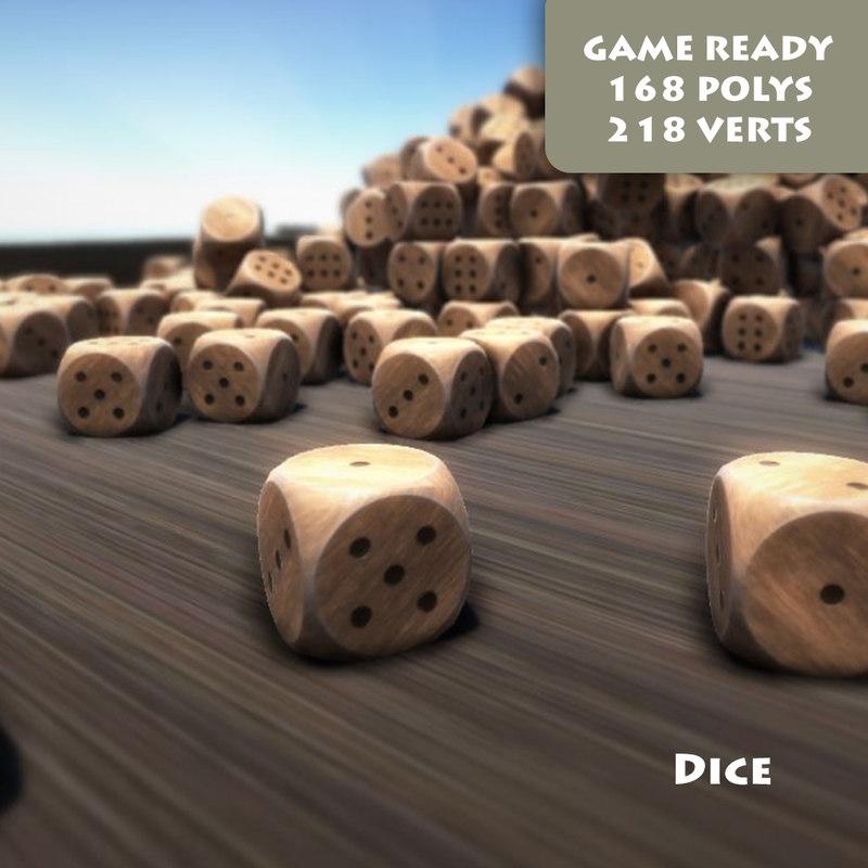 ready dice pbr 3d model