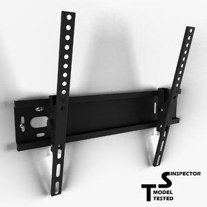 tv wall mount 3d obj