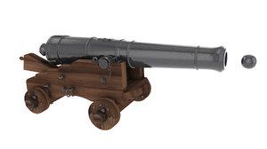 canon ship 3d model