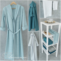Set of towels and bathrobes