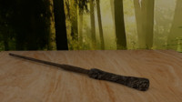 3d model harry potter magic wand