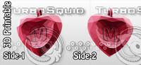 fbx 3d-printable valentine crystal-heart-twoletters pendant
