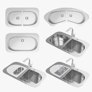 3d max barazza taps sinks