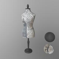 sewing body 3dscan 3d model