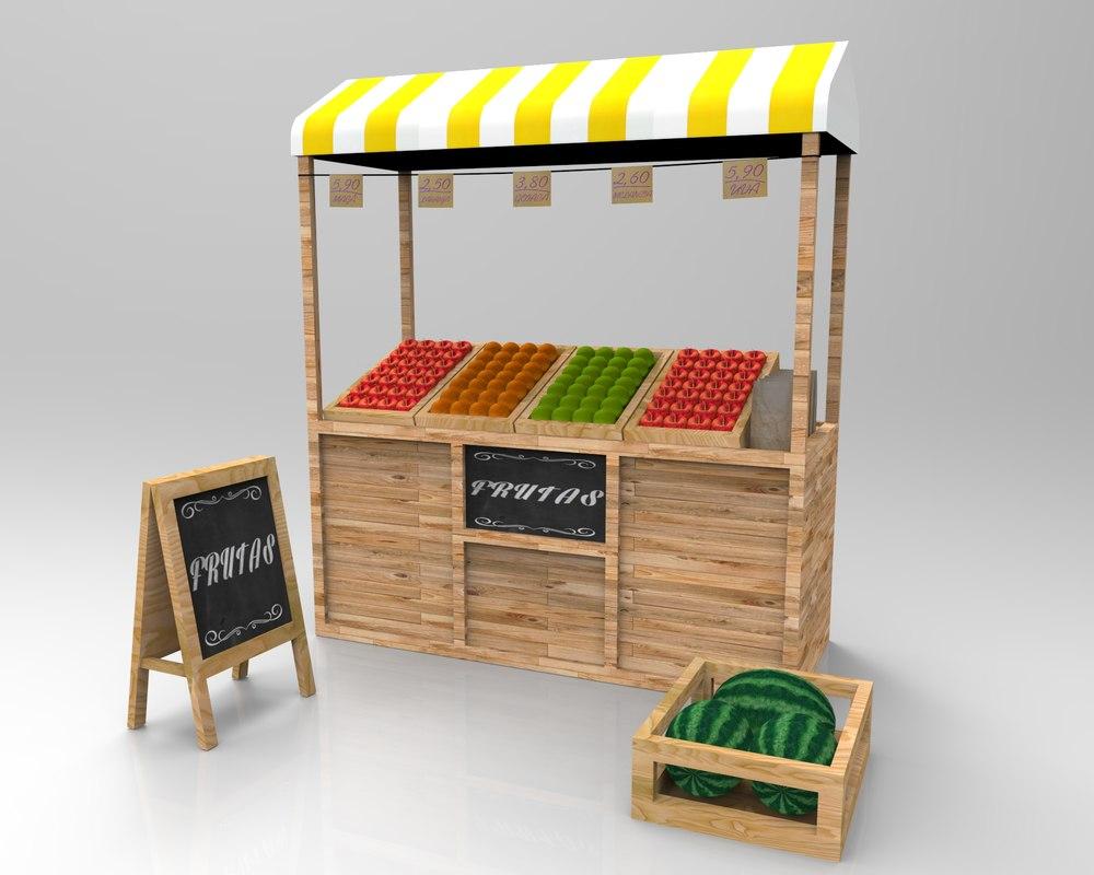 fruit market 3d max