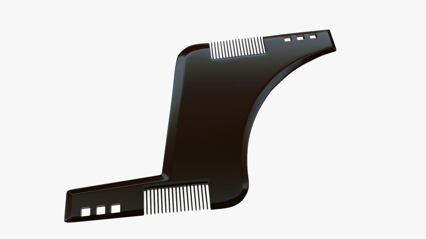 3d comb beard model