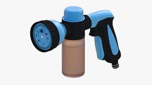 3d model water nozzil blue