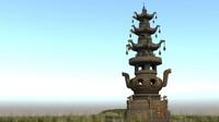 japanese ancient architecture senior 3d model