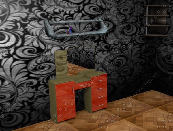 3d dressing table
