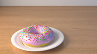Donut and plate