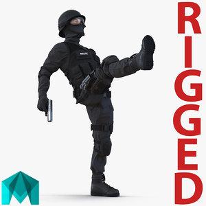 swat man mediterranean rigged 3d ma