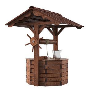 house wooden 3d obj