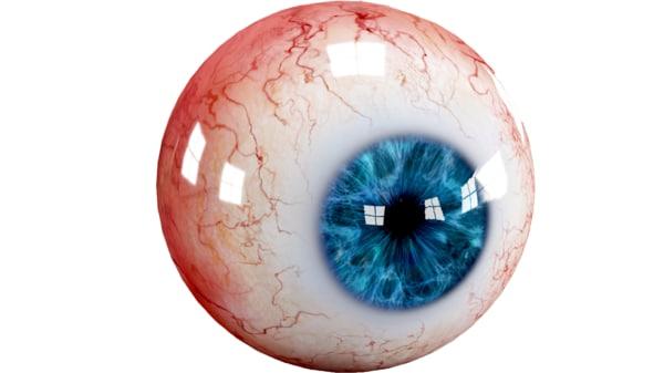 3d realistic human eye creature