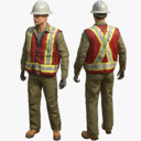 3d safety worker rig
